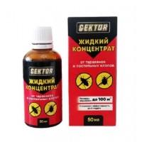 GEKTOR жидкий концентрат от клопов, тараканов, блох, муравьев и др 50 мл
